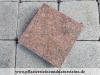 ROTE Granit-Platten, (aus VANGA - ein importiertes, skandinavisches Material) geflammt – unterschiedliche Größen/Maßen (NUR BEISPIEL - AUF DEM FOTO ALS TROCKEN)