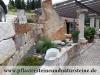 """Antik-Granit-Mauersteine GRAU-GELB - """"Herbstlaub""""/ Naturstein-Mauer / Granit-Mauer, grau-gelb, Mittelkorn, allseitig gespalten (Granit-Mauersteine aus Polen) - Foto von unseren Kunden, Mauersteine für eine Natursteinmauer, Polengranit"""