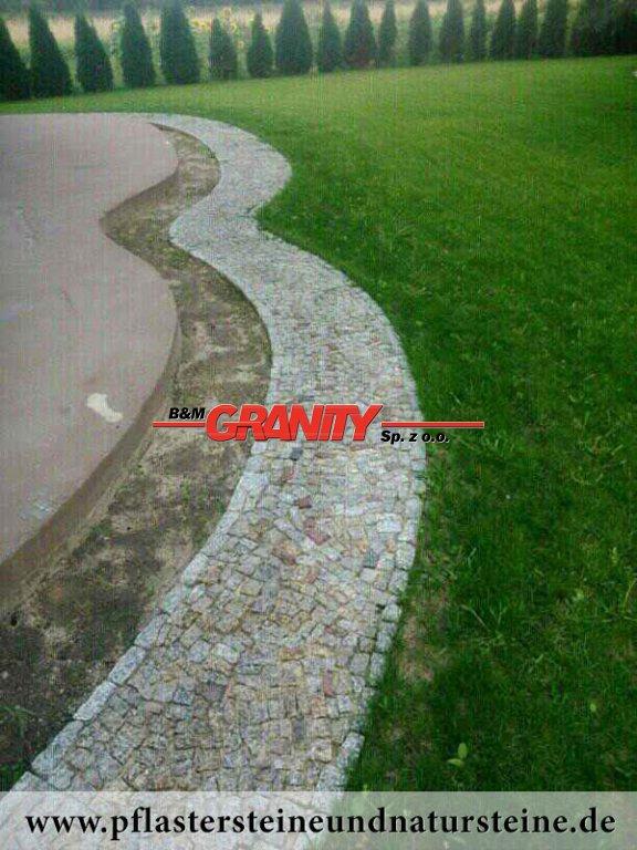Unregelmäßige Granit-Natursteine (für Gehwegbau)..., Granit aus Polen, Naturstein aus Polen, Polengranit