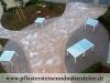 Eine Verbindung vom Naturstein (rote Pflastersteine aus Schweden) und Beton… - Foto von unseren Kunden