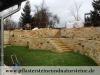 Unregelmäßige Mauersteine aus Sandstein (Natursteinmauer) - Foto von unseren Kunden