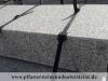 Sonderanfertigung aus Naturstein - Blockstufen aus Granit, gesägt und geflammt (grauer Granit aus Polen), Naturstein aus Polen, Polengranit