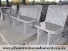 Sonderanfertigung aus Naturstein (Gartenmöbel, grauer Granit aus Polen), Naturstein aus Polen, Polengranit