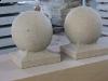 Sandsteinkugel (grau-gelb)..., Sandstein aus Polen