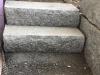 Sonderanfertigung aus Naturstein - Blockstufen aus Granit, gesägt-gespalten (grauer Granit aus Polen), Naturstein aus Polen, Polengranit