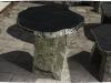 Möbel (Gartenmöbel) aus Serpentin - Serpentinit (Serpentin aus Polen)