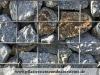 Gabionen Mauer GRANIT (grau-gelb) aus Polen für Gabionen - Gabionen Mauer/ Mauer aus Gabionen, Gabionenwand, Natursteinmauer / Gabionensteine (Natursteine aus Polen), Gabionenfüllung, Natursteinmauer, Gabionenzaun, Gabionenmauer, Naturstein für Gabionen, Naturstein aus Polen, Polengranit, schwedische Natursteine, Schroppen, Gabionenfüllung