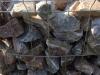 Gabionen Mauer Kalkstein aus Polen für Gabionen – Gabionen Mauer/ Mauer aus Gabionen, Ziersteine / Gemischte Natursteine für Gabionenkörbe (Beispiel), Gabionenfüllung, Schroppen, Gabionenwand