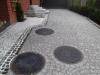 Granit-Pflastersteine, alle Seiten gespalten