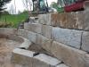 Natursteinmauer / Naturstein-Mauer / Granit-Mauer... Granit-Mauersteine / Wasserbausteine, grau-gelb, Mittelkorn, allseitig gespalten (Granit-Mauersteine aus Polen), Mauersteine für eine Natursteinmauer, Polengranit