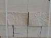 Sandstein-Mauersteine / Naturstein-Mauer / Sandstein-Mauer (grau-gelb). Zwei Flächen - gespalten, vier Flächen – gesägt (Sandstein-Mauersteine aus Polen), Natursteinmauer, Sandsteinmauer / Wasserbausteine