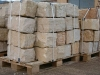 Sandstein-Mauersteine / Naturstein-Mauer / Sandstein-Mauer (grau-gelb)..., Sandstein-Mauersteine aus Polen, Mauersteine für eine Natursteinmauer, Polensandstein / Wasserbausteine