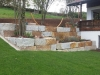 Natursteinmauer / Naturstein-Mauer / Granit-Mauer... Granit-Mauersteine / Wasserbausteine, grau-gelb, Mittelkorn, allseitig gespalten (Granit-Mauersteine aus Polen), Mauersteine für eine Natursteinmauer, Antik Mauersteine, Antik Mauer, Polengranit