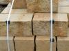 Sandstein-Mauersteine / Naturstein-Mauer / Sandstein-Mauer (grau-gelb), vier Flächen - gesägt, zwei Flächen – gespalten (Sandstein-Mauersteine aus Polen), Mauersteine für eine Natursteinmauer, Polensandstein / Wasserbausteine