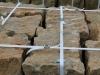 Sandstein-Mauersteine / Naturstein-Mauer / Sandstein-Mauer (grau-gelb), gespalten (Sandstein-Mauersteine aus Polen), Mauersteine für eine Natursteinmauer, Polensandstein / Wasserbausteine