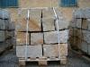 Sandstein-Mauersteine / Naturstein-Mauer / Granit-Mauer (grau-gelb)..., Sandstein-Mauersteine aus Polen, Mauersteine für eine Natursteinmauer, Polensandstein / Wasserbausteine