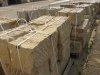 Sandstein-Mauersteine / Naturstein-Mauer / Sandstein-Mauer (grau-gelb), gespalten..., Sandstein-Mauersteine aus Polen (Sandstein-Mauersteine aus Polen), Mauersteine für eine Natursteinmauer, Polensandstein / Wasserbausteine