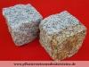 """Granit-Pflastersteine GRAU-GELB - """"Herbstlaub"""", Granit-Würfel, Natursteinpflaster, allseitig gespalten, grau und grau-gelb, Mittelkorn, trocken (Pflastersteine aus polnischem Granit... Natursteine aus Polen), Pflastersteine aus Polen, Pflastersteine aus Schweden, Naturstein aus Polen, preisgünstige Pflastersteine, preisgünstige Natursteine aus Polen."""