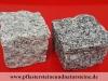 Granit-Pflastersteine, grau, Mittelkorn (trocken), allseitig gespalten und Pflastersteine aus Syenit (trocken), allseitig gespalten, Granit-Würfel, Syenit-Würfel, Natursteinpflaster (Pflastersteine aus polnischem Granit... Natursteine aus Polen), preisgünstige Pflastersteine aus Polen, preisgünstiger Naturstein aus Polen