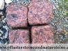 Antik Pflastersteine / Antikpflaster - Granit-Pflastersteine, Granit-Würfel / Gerölltsteinpflaster (rustikal, getrommelt, gerundet und ohne scharfe Kanten)..., rot, Vanga - ein importiertes, schwedisches Material (nass), Pflastersteine aus Polen, Pflastersteine aus Schweden, Naturstein aus Polen und Schweden