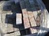 """Granit-Pflastersteine, Granit-Würfel, Natursteinpflaster, Polengranit, grau-gelb (s.g. """"Herbstlaub""""), gesägt, Oben geflammt (Granit-Pflastersteine aus Polen), Pflastersteine aus Polen, Pflastersteine aus Schweden, Naturstein aus Polen, Granit-Pflaster"""