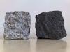 """Granit-Pflastersteine grau (Pflastersteine aus polnischem, grauem Granit) und schwarz (""""Schwede"""" – ein importiertes, skandinavisches Material), alle Seiten gespalten,Naturstein aus Polen und Schweden, Pflastersteine aus Polen, Pflastersteine aus Schweden, Naturstein aus Polen"""