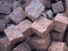 Granit-Pflastersteine, Granit-Würfel, rot (Vanga – ein importiertes, skandinavisches /aus Schweden/ Material, alle Seiten gespalten), Pflastersteine aus Polen, Pflastersteine aus Schweden, Naturstein aus Polen