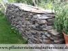 Trockenmauer aus Schiefer, Schiefer-Mauersteine / Naturstein-Mauer / Schiefer -Mauer (Mauersteine als Platten)..., Schiefer aus Polen - Foto von unseren Kunden