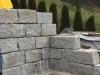 Granit-Mauersteine / Naturstein-Mauer / Granit-Mauer, grau, Mittelkorn, gespalten (Granit-Mauersteine aus Polen)