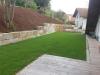 Natursteinmauer (Granitmauer)... Granit-Mauersteine, grau-gelb, Mittelkorn, allseitig gespalten (Granit-Mauersteine aus Polen)