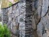 Schiefer, Schiefer-Mauersteine, Schieferplatten (Schiefer aus Polen) / Naturstein-Mauer / Schiefer -Mauer