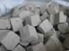 Sandstein-Pflastersteine, Sandstein-Würfel, Natursteinpflaster, grau-gelb, alle Seiten gespalten (Sandstein-Pflastersteine aus Polen), Naturstein aus Polen, Pflastersteine aus Polen, Pflastersteine aus Schweden, Naturstein aus Polen