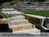 Granit-Mauersteine / Naturstein-Mauer / Granit-Mauer, grau-gelb, Mittelkorn, allseitig gespalten (Granit-Mauersteine aus Polen) - Foto von unseren Kunden