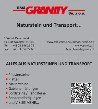 Visitenkarte - Firma B&M Granity